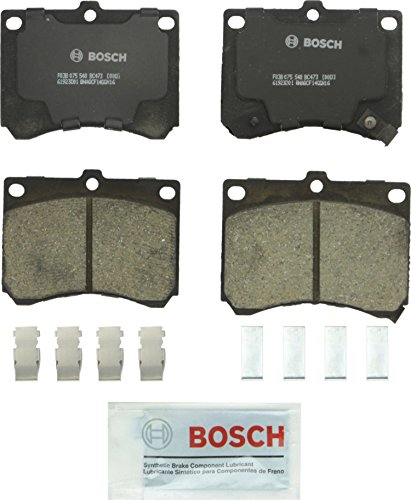 Bosch BC473 QuietCast Premium Ceramic Disc Brake Pad Set For Ford: 1991-2003 Escort; Mazda: 1992-1996 MX-3, 1990-1998 Protege; Mercury: 1991-1999 Tracer; Front (Escort Brake Ford Bendix)