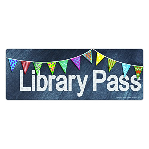 Hall Passes Library (Top Notch Teacher Products Library Chalkboard Pass)