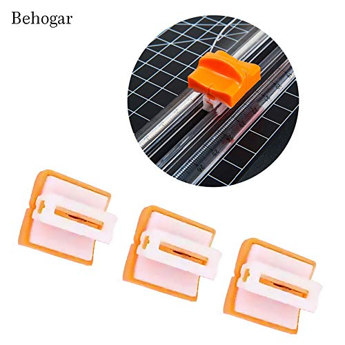 Best Quality - Home Office Storage - 3pcs Paper Trimmer Replacement Blades w/Automatic Security Safeguard for JIELISI 909-1 4 5 6 Paper Cutter Accessories - by BLUESKYUP - 1 ()