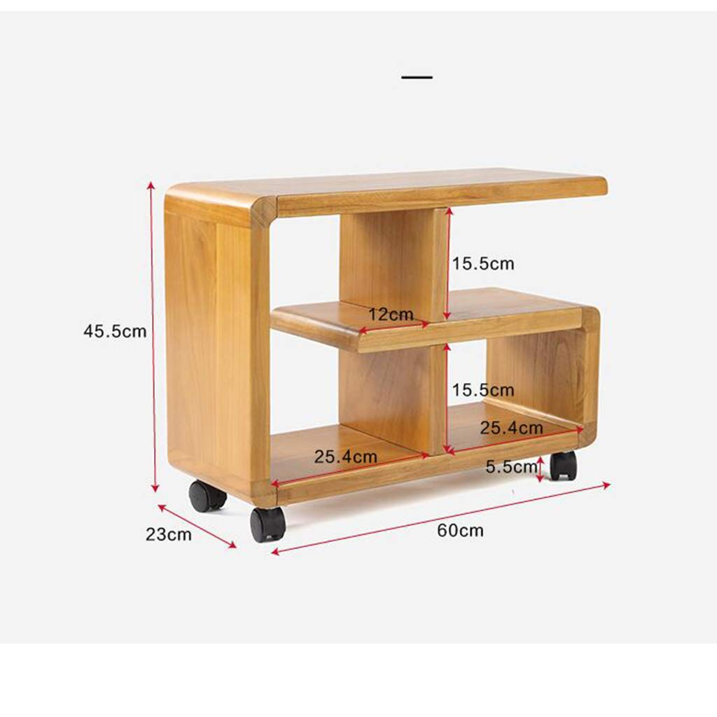 Yaheetech Home AAAA with 4 Tiers Shelves, Wooden Writing Desk