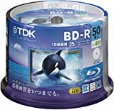 TDK Blue-ray BD-R 25GB Disk 50 Pack (Japanese Import)