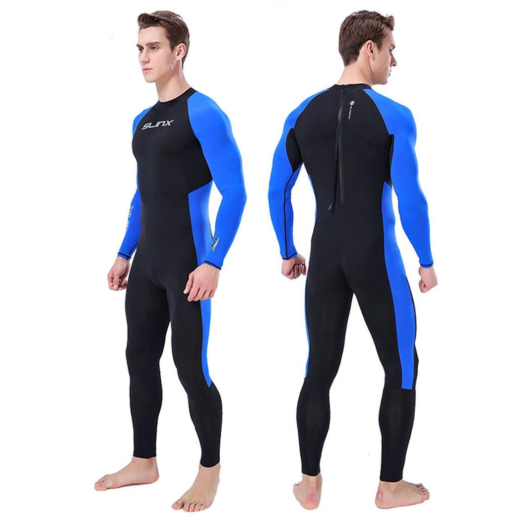 iCJJL Men Women Full Body Dive Wetsuit Sports Skins Lycra Rash Guard, UV Protection Long Sleeve One Piece Swimwear for Snorkeling Surfing Scuba Diving Swimming Kayaking Sailing Canoeing by iCJJL