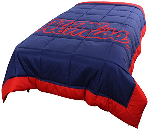 College Covers Ole Miss Rebels 2 Sided Reversible Comforter, Queen