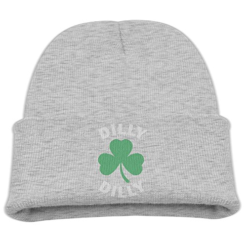 Patricks Day Knit Cap (Dilly Dilly St Patricks Day Skull Caps Slouchy Beanies Hats for Unisex Children)