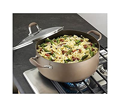 Anolon Advanced Bronze Hard Anodized Nonstick 7-1/2-Quart Covered Wide Stockpot
