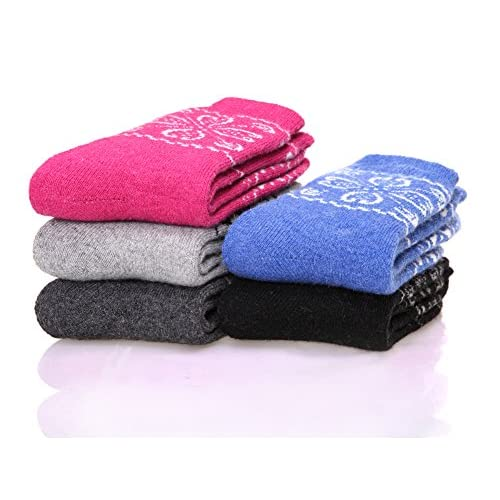 DoSmart 5 Pairs Women's Super Thick Soft Comfortable Warm Winter Wool Socks