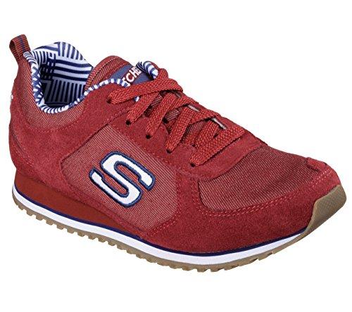 Skechers Retros OG 78 Denim Dash Womens Sneakers Burgundy 7.5