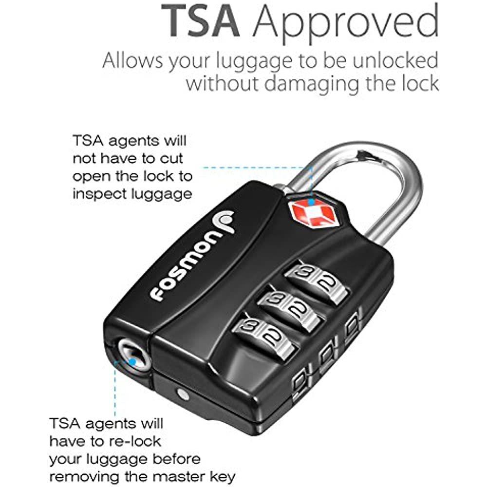 Business & Industrial Honest 2xtsa Approve Luggage Travel Suitcase Bag Lock 3 Digit Combination Padlock Reset Factory Direct Selling Price