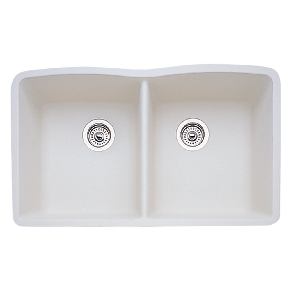 Blanco BL440186 Diamond Equal Double Bowl, Biscuit