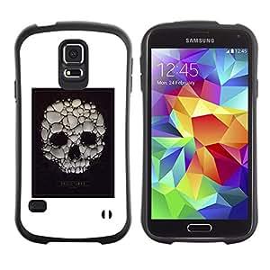 Suave TPU GEL Carcasa Funda Silicona Blando Estuche Caso de protección (para) Samsung Galaxy S5 / CECELL Phone case / / Skull Soap Bubble Death Poster White /