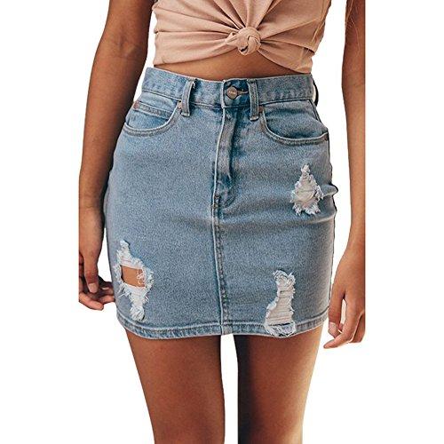 di Ricamo Denim Jeans Fit 2 Slim Matita per Vintage Fiori Streetwear Line Alta in Minigonna Blu Donna Gonna Gonna Skirt a di A Vita Gonna Moda a qRwaxnwZB