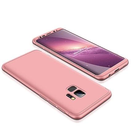 Funda Samsung Galaxy S9 Plus, Carcasa Galaxy S9 Plus con [ Protector de Pantalla de Vidrio Templado ] 3 en 1 Desmontable Galaxy S9 Plus Funda ...