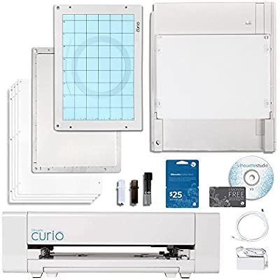 Silhouette Curio Digital Crafting Machine with 8.5 Inch x 6 Inch Tray with $10 Card