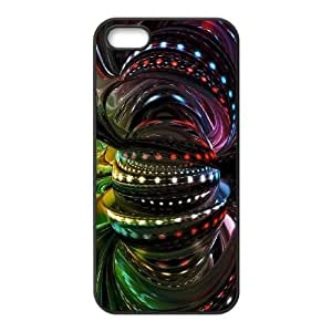 Abstraction Patterns Lines Light iPhone 5 5s Cell Phone Case Black CVXEYERTE00322 Cell Phone Case Plastic Personalized