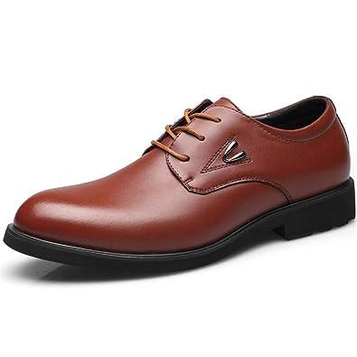 2ff6224f763 Homme Chaussure a Lacet en Cuir d affaire Commercial Chaussure de Travail  au Loisir Souple