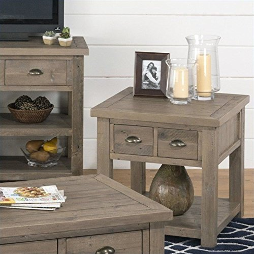 2-Drawers End Table