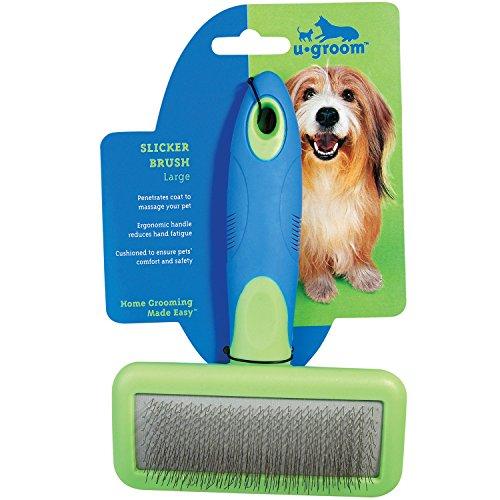 UGroom Slicker Brushes with Steel Pins — Ergonomic Slicker Brushes for Dog Grooming - Large, 6¾