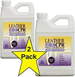 Leather CPR 2PK 32oz Bottles - Dermatologist Tested & 100% Irritant-Free Leather Cleaner & Conditioner for Your Home – Works Wonders on Furniture, Jackets, Shoes, Auto & More