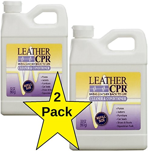 Conditioner 32 Ounce Bottle (Leather CPR Cleaner & Conditioner (2 Pack/32oz bottles) Restores & Protects Leather Furniture, Shoes, Jackets & More)