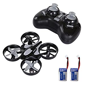 SGILE Mini RC UFO Quadcopter Nano Drone with 2 Free...