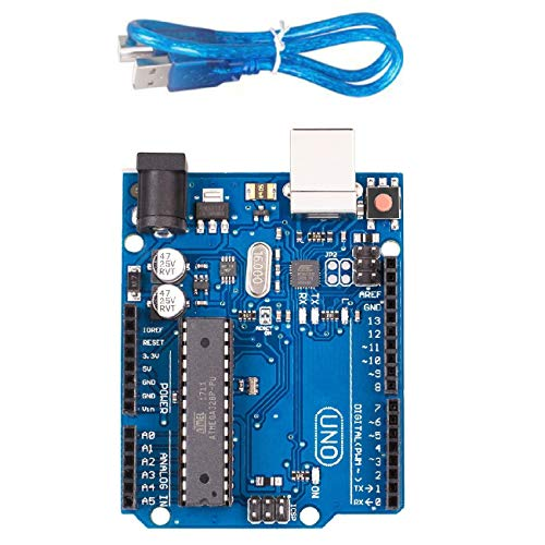 Luxuglow UNO R3 Board ATmega328P with USB Cable for Arduino, Compatible UNO R3 ATmega328P ATmega16U2 Development Board Arduino IDE Develope Kit Microcontroller with USB Cable -