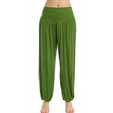 Aiweijia Pantalones Anchos de Mujer Pantalones de harén ...