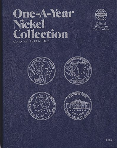 Whitman 0-307-09102 1913-DATE 1977 Buffalo & Jefferson Nickel 9102 COIN; ALBUM, BINDER, BOARD, BOOK, CARD, COLLECTION, FOLDER, HOLDER, PAGE, PORTFOLIO PUBLICATION, SET, VOLUME