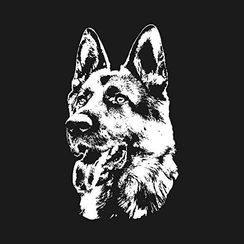 Shepherd Sticker Dog (1080GPHX German Shepherd Dog Decal WHITE 5