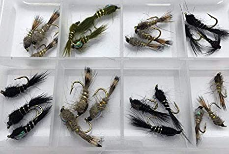 colecci/ón Prime BestCity anzuelos para Pesca con Mosca tama/ño 10 8 Unidades
