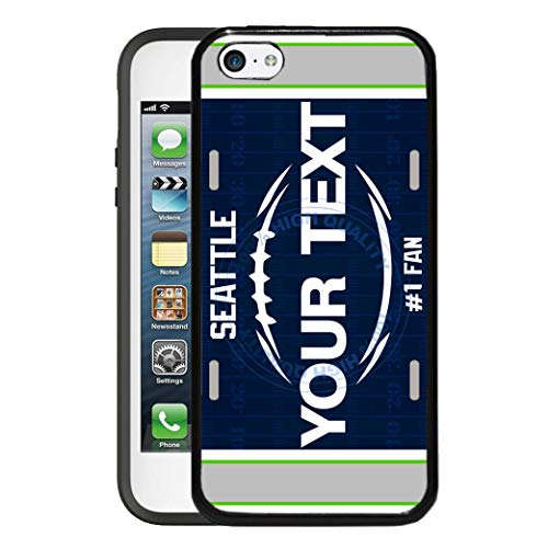 BRGiftShop Customize Your Own Football Team Seattle Rubber Phone Case for Apple iPod Touch 5th & 6th Generation