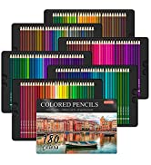 180 Colored Pencils, Shuttle Art Soft Core Coloring Pencils Set with 4 Sharpeners, Professional C...