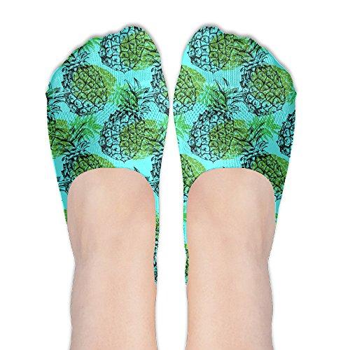 Summer Tropical Fruit Pineapple Mint Women No Show Socks Funny Novelty Low Cut Liner (Plus Tropical Fruit)