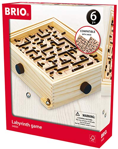 BRIO 34000 Labyrinth Game | A Classic Favorite for Kids Age 6 and Up with Over 3 Million Sold (Game Marble Kids)
