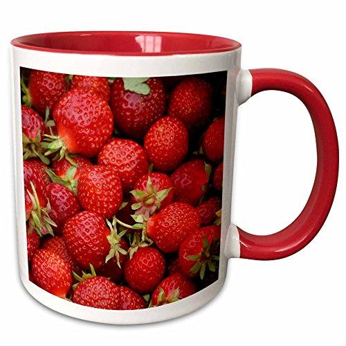 3dRose Florene Beverage Strawberries mug 194652 5