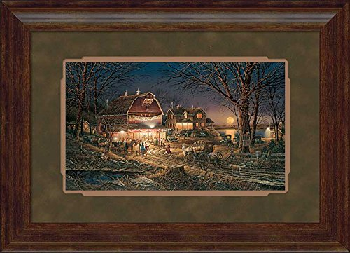 Harvest Moon Ball Framed Encore Print by Terry Redlin