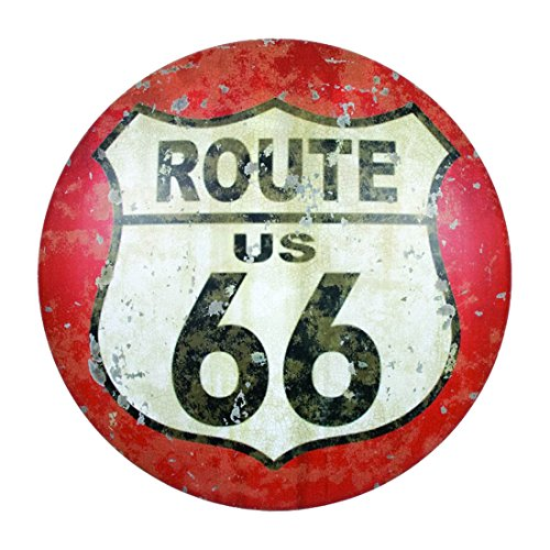 CWI Gifts Retro Route 66 Metal Sign, 12