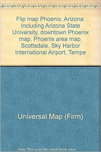 Map Of Arizona State University.Flip Map Phoenix Arizona Including Arizona State University