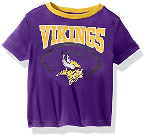 NFL Minnesota Children Boys Short sleeve Tee, 4T, Vikings (Vikings Children)