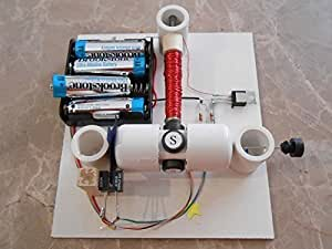 Simple electric motor kit with optical control for Simple electric motor science project