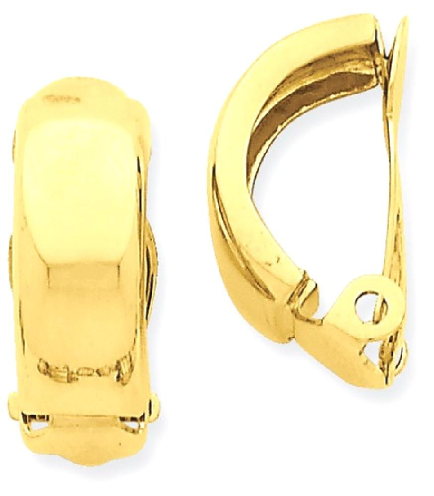 ICE CARATS 14k Yellow Gold Non Pierced Clip On Ball Button Stud Earrings Fine Jewelry Gift Set For Women Heart