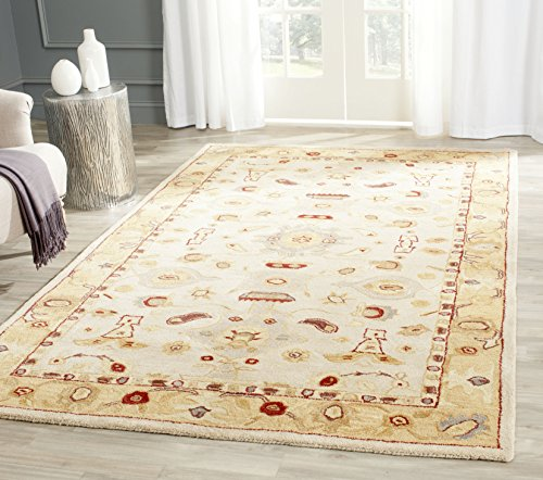 Safavieh Anatolia Collection AN543C Handmade Traditional Oriental Ivory and Gold Wool Area Rug (11' x 17')