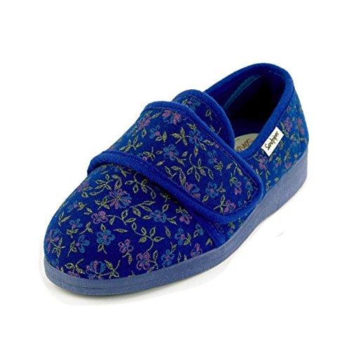 Pour Femme Bleu Sandpiper Floral Chaussons Motif g5qxAwvAC