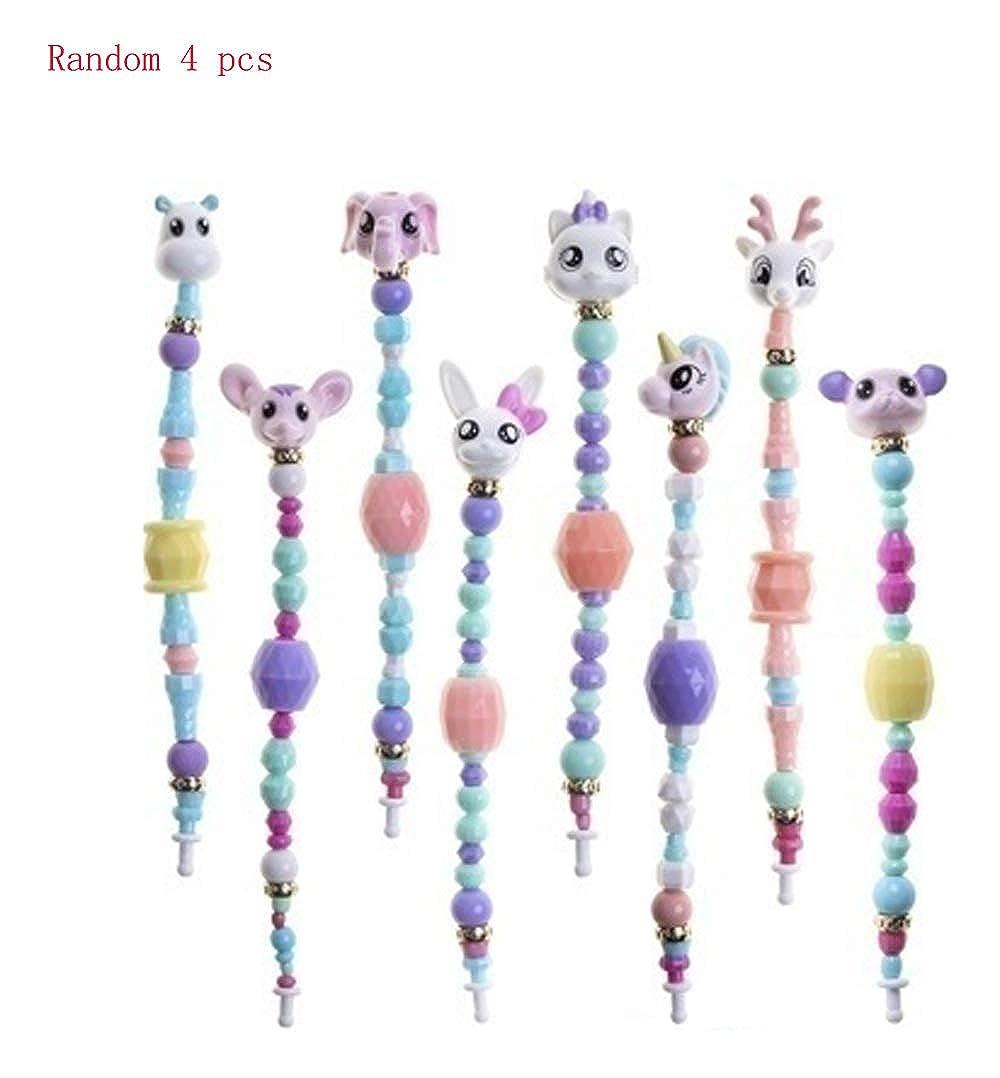 KUZLO DIY Magic Pet Bracelet Funny Stitching Twisty Tricks Unicorn Rabbit Animal Toy Cute Creative Beads Bracelet Set for Kids Girls Random 3 pcs