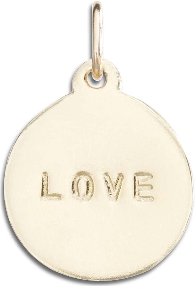 Helen Ficalora ''Love'' Disk Charm Yellow Gold