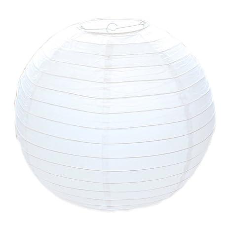 Clásico papel blanco redondo estilo de bambú lámpara de ...