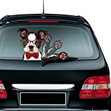 vylymuses Rear Wiper Decal Sticker Glasses Dog Stickers Cartoon Skull Waving Windshield Wiper Decal Wiper Decal Tags for Rear Window Car Window Stickers and Decals Christmas Decoration