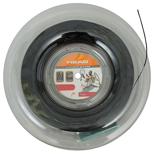 String Black 17g Tennis (Head Synthetic Gut PPS Tennis String - 17g - Black)