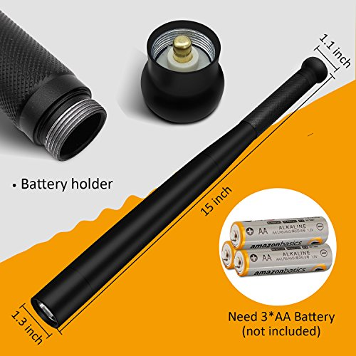 Tactical Flashlight Best Torch, Winbtek Cool Black Brightest Led Flashlight, 2000 Lumens, 3 Light Modes for Camping, Hiking, Inspection, Work, Repair and Emergency Use by Winbtek (Image #2)