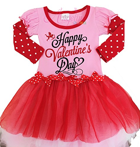 Girls' Clothing (newborn-5t) Valentine Leopard Love White Bodysuit Girls Red Romantic Rose Baby Dress Nb-18m Keep You Fit All The Time