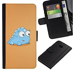 All Phone Most Case / Oferta Especial Cáscara Funda de cuero Monedero Cubierta de proteccion Caso / Wallet Case for HTC One M8 // Funny Baby Dinosaur